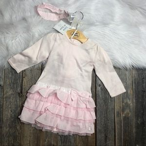 NEW Emile et Rose Dress 9M Pink Headband Leggings